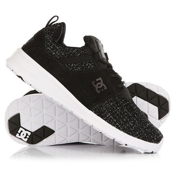 Кроссовки DC Shoes Heathrow Le Black Marl кроссовки детские dc heathrow se green grey white