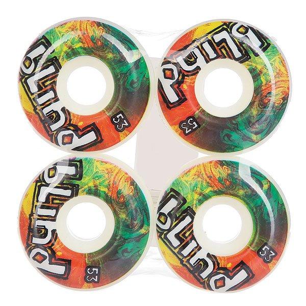 Колеса для скейтборда для скейтборда Blind Trippy Og Wheel White/Rasta 53 mmДиаметр: 53 mm    Цена указана за комплект из 4-х колес<br><br>Цвет: мультиколор<br>Тип: Колеса для скейтборда<br>Возраст: Взрослый<br>Пол: Мужской