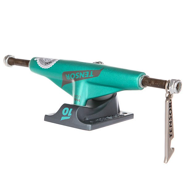 Подвески для скейтборда для скейтборда 1шт. Tensor Mag Light Lo Flick Mint/Gunmetal 5 (19.7 см)Ширина подвесок: 5 (19.7 см)    Высота подвесок: 52 мм    Цена указана за 1 шт<br><br>Цвет: серый,зеленый<br>Тип: Подвески для скейтборда<br>Возраст: Взрослый<br>Пол: Мужской