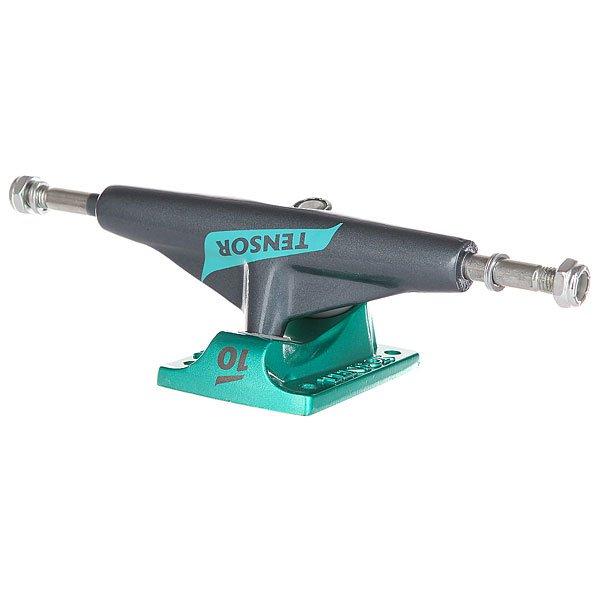 Подвески для скейтборда для скейтборда 1шт. Tensor Alum Lo Flick Gunmetal/Mint 5 (19.7 см)Ширина подвесок: 5 (19.7 см)    Высота подвесок: 52 мм    Цена указана за 1 шт<br><br>Цвет: серый,зеленый<br>Тип: Подвески для скейтборда<br>Возраст: Взрослый<br>Пол: Мужской