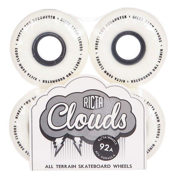 Колеса для скейтборда для скейтборда Ricta Clouds Black 92A 56 mmДиаметр: 56 mm    Жесткость: 92A    Цена указана за комплект из 4-х колес<br><br>Цвет: черный,белый<br>Тип: Колеса для скейтборда<br>Возраст: Взрослый<br>Пол: Мужской