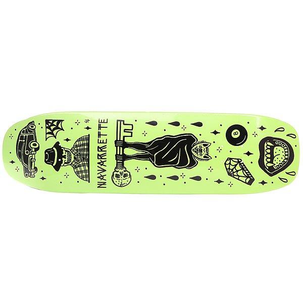 Дека для скейтборда для лонгборда Creature Navarrette Tanked Pro Black/Green 8.8 x 32.57 (82.7 см)Количество слоев: 7<br><br>Цвет: черный,Светло-зеленый<br>Тип: Дека для лонгборда<br>Возраст: Взрослый<br>Пол: Мужской