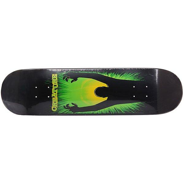 Дека для скейтборда для скейтборда Creature The Thing Resurrection Team Black/Green 31.6 x 8 (20.3 см)Ширина деки: 8 (20.3 см)    Длина деки: 31.6 (80.3 см)    Количество слоев: 7<br><br>Цвет: черный,зеленый<br>Тип: Дека для скейтборда<br>Возраст: Взрослый<br>Пол: Мужской