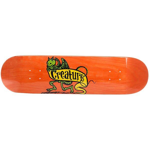 Дека для скейтборда для скейтборда Creature Imp Hard Rock Maple Orange 31.6 x 8 (20.3 см)Ширина деки: 8 (20.3 см)    Длина деки: 31.6 (80.3 см)    Количество слоев: 7<br><br>Цвет: оранжевый<br>Тип: Дека для скейтборда<br>Возраст: Взрослый<br>Пол: Мужской