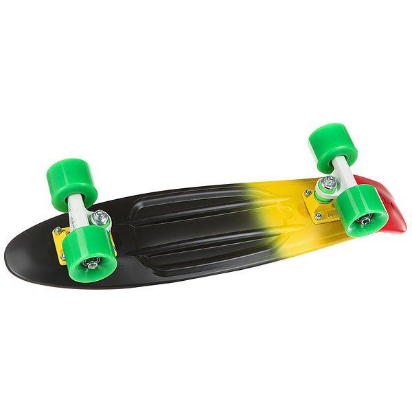 Скейт мини круизер Penny Original 22 Ltd Caribbean 6 x 22 (55.9 см)Маленький и легкий скейтборд с традиционной карибской расцветкой подойдет для настоящих авантюристов! Собери своих друзей, прогони тоску и отправься вместе со своим Пенни в увлекательное путешествие подальше от рутинных будней!Технические характеристики:Длина - 56 см, ширина - 15,2 см.Вес 2,7 кг.Подвеска из алюминия Custom 3.Колёса из полиуретана 59 мм, 78А.Подшипники Penny Abec 7.Вес райдера до 110 кг.<br><br>Цвет: черный,желтый,зеленый,красный<br>Тип: Скейт мини круизер<br>Возраст: Взрослый<br>Пол: Мужской