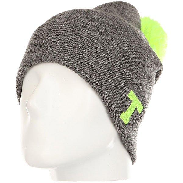 Шапка TrueSpin Abc Pompom Beanie Grey/Lime-t<br><br>Цвет: серый,Светло-зеленый<br>Тип: Шапка<br>Возраст: Взрослый<br>Пол: Мужской