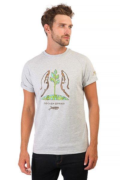Футболка Запорожец Посади Дерево Серая<br><br>Цвет: серый<br>Тип: Футболка<br>Возраст: Взрослый<br>Пол: Мужской