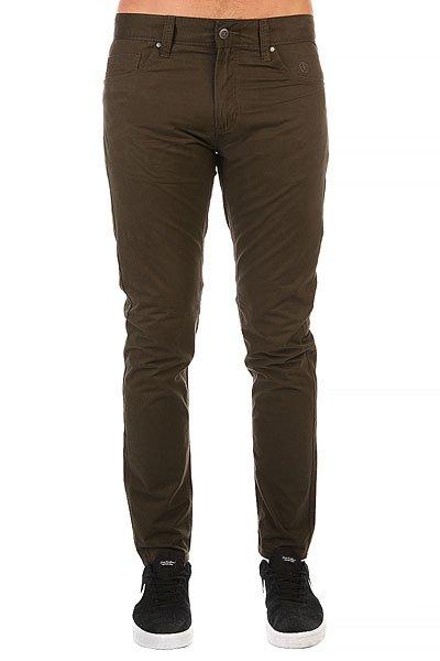 Штаны прямые Запорожец Chino Zap Carrot Olive Green штаны прямые billabong new order chino khaki