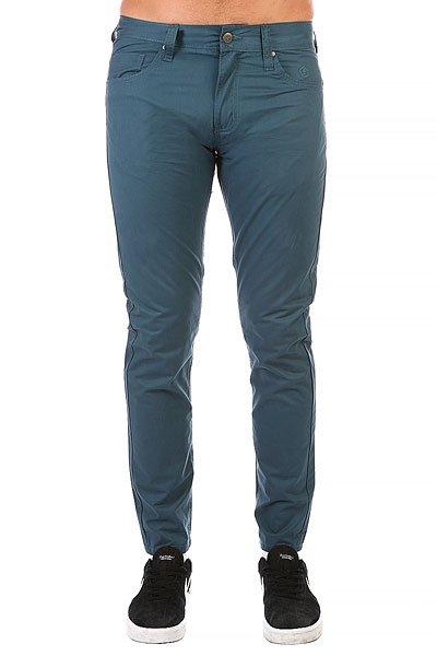 Штаны прямые Запорожец Chino Zap Carrot Blue штаны прямые billabong new order chino khaki