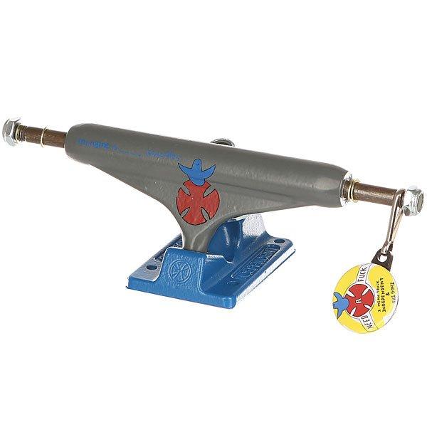 Подвеска для скейтборда 1шт. Independent Gonzales Standard Grey/Blue 5.5 (21 см)Ширина подвесок: 5.5 (21 см)    Высота подвесок: 58 мм    Цена указана за 1 шт    Минимальное количество для заказа 2 шт<br><br>Цвет: синий,серый<br>Тип: Подвеска для скейтборда<br>Возраст: Взрослый<br>Пол: Мужской