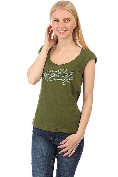 Майка женская Nor Cal Por Vida Cap Sleeve Olive<br><br>Цвет: зеленый<br>Тип: Майка<br>Возраст: Взрослый<br>Пол: Женский