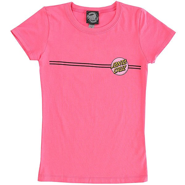 Футболка детская Santa Cruz Other Dot Girls Hot Pink<br><br>Цвет: розовый<br>Тип: Футболка<br>Возраст: Детский
