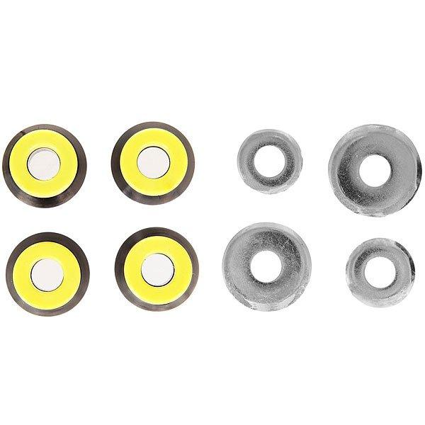 Амортизаторы для скейтборда Юнион Бушинги Black/YellowЮркие и стильные амортизаторы от Юнион!Характеристики:Изготовлены из металла и полиуретана.Комплект из 4 штук.<br><br>Цвет: черный,желтый,серый<br>Тип: Амортизаторы