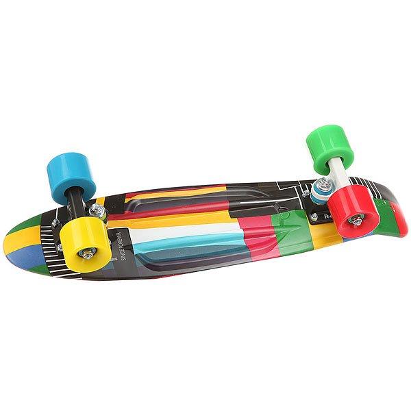 Скейт мини круизер Penny Original 22 Ltd No Signal 6 x 22 (55.9 см)Лонгборд Penny Original 22 LTD - это апгрейд классики из 70-х, исполненный в оригинальном цветовом решении. Это то, с чего всё началось, вся идея Penny в одном скейтборде. Это веселье, свобода и самое высокое качество всех компонентов. Основное достоинство данной модели - универсальность, ведь размер, вес и легкость в управлении делают скейтборд прекрасным средством передвижения в любой день и в любых условиях.Характеристики:Вес: 2,7 кг. Подвеска:Custom 3.Колёса: 59 мм жесткостью 78А. Подшипники: Penny Abec 7.<br><br>Цвет: мультиколор<br>Тип: Скейт мини круизер