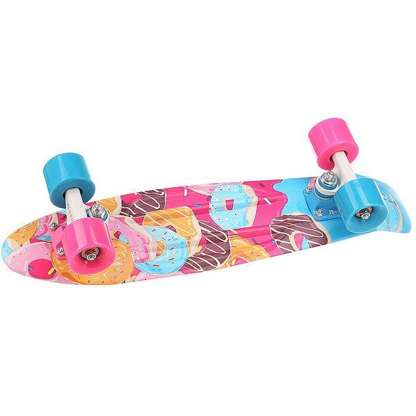 Скейт мини круизер Penny Original 22 Ltd Sweet Tooth 6 x 22 (55.9 см)Лонгборд Penny Original 22 LTD - это апгрейд классики из 70-х, исполненный в оригинальном цветовом решении. Это то, с чего всё началось, вся идея Penny в одном скейтборде. Это веселье, свобода и самое высокое качество всех компонентов. Основное достоинство данной модели - универсальность, ведь размер, вес и легкость в управлении делают скейтборд прекрасным средством передвижения в любой день и в любых условиях.Характеристики:Вес: 2,7 кг. Подвеска:Custom 3.Колёса: 59 мм жесткостью 78А. Подшипники: Penny Abec 7.<br><br>Цвет: мультиколор<br>Тип: Скейт мини круизер