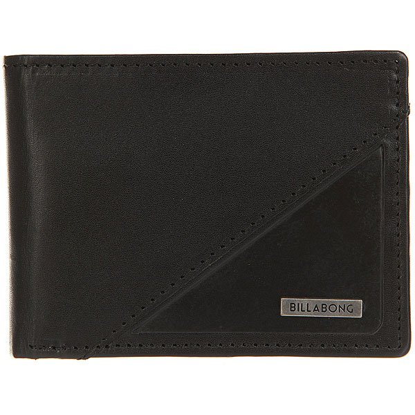 Кошелек Billabong Split Leather Wallet Black