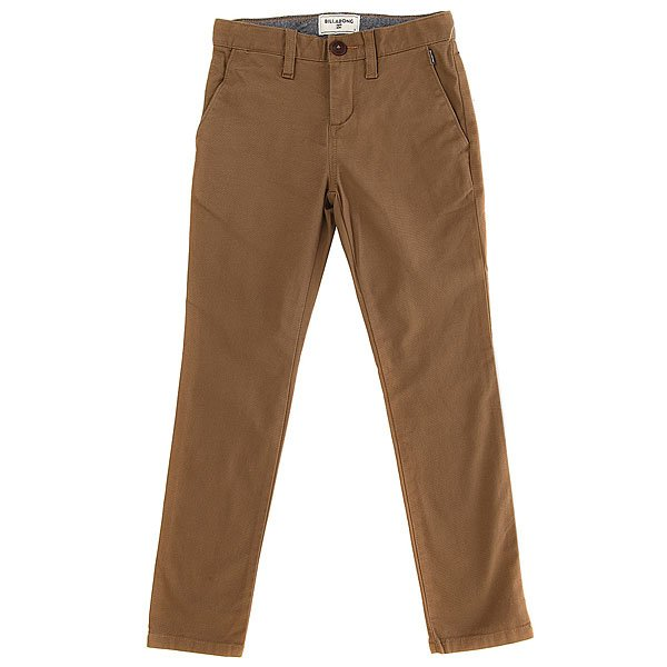 Штаны прямые детские Billabong New Order Chino Camel billabong new order print 19 black
