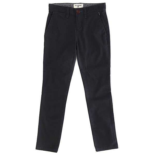 Штаны прямые детские Billabong New Order Chino Navy billabong new order print 19 black