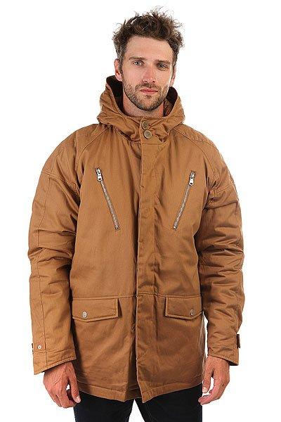 Куртка парка Extra Francky TobaccoМужская утепленная куртка, рассчитанная на холодную осень и зиму.Характеристики:Длина изделия до середины бедра. Куртка выполнена из 100% хлопка с водоотталкивающей пропиткой, имеет стеганную подкладку и утеплена синтепоном. Именная фурнитура. Кожаная отделка. В карманах флисовая подкладка. Фиксированный капюшон. Манжеты на кнопках. Два кармана на молнии на груди. Два боковых кармана на кнопках.<br><br>Цвет: коричневый<br>Тип: Куртка парка<br>Возраст: Взрослый<br>Пол: Мужской