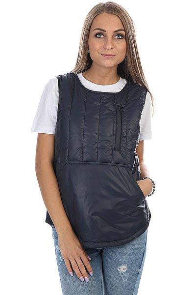 Жилетка женская S.G.M. Inkeri Dk.blueУтепленный женский жилет, который можно использовать как дополнение к легкой куртке или как самостоятельный предмет гардероба.Технические характеристики: Стеганый дизайн.Карманы для рук.Боковая застежка на молнии.<br><br>Цвет: синий<br>Тип: Жилетка<br>Возраст: Взрослый<br>Пол: Женский