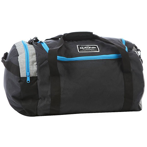 Сумка спортивная Dakine Eq Bag TaborУдобная сумка для путешествий с просторным вместительным центральным отделом на U-образной застежке, и боковым карманом для самых необходимых предметов.Технические характеристики: Материал - полиэстер 600D.Вместительный главный отсек с U-образным двухсторонним доступом.Боковой карман на застежке-молнии.Наплечный съемный ремень с регулировкой.<br><br>Цвет: черный,серый,голубой<br>Тип: Сумка спортивная<br>Возраст: Взрослый<br>Пол: Мужской