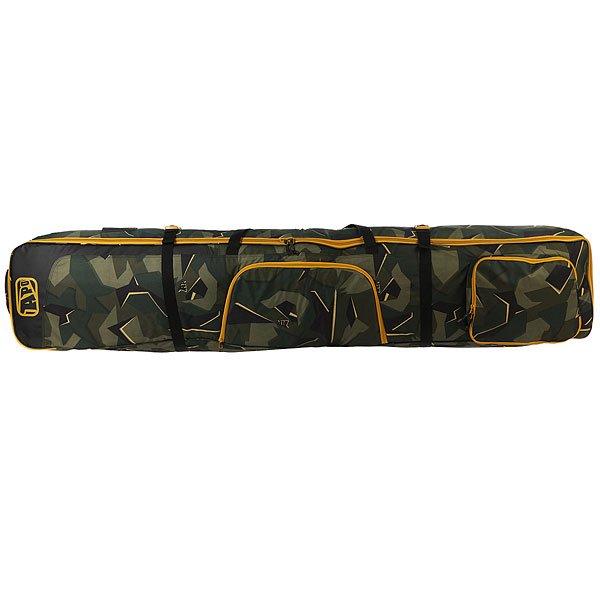 Чехол для лыж Apo Boxed Wheelie Skibag Camo<br><br>Цвет: черный,зеленый<br>Тип: Чехол для лыж<br>Возраст: Взрослый<br>Пол: Мужской