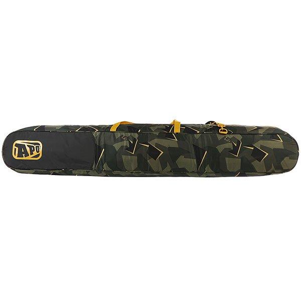 Чехол для сноуборда Apo Stanton Skibag Camo<br><br>Цвет: черный,зеленый<br>Тип: Чехол для сноуборда<br>Возраст: Взрослый<br>Пол: Мужской