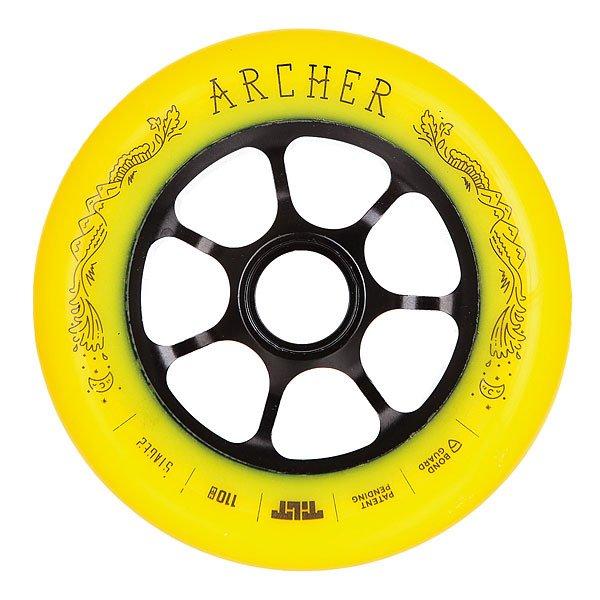 Колесо для самоката Tilt Jon Archer Signature WheelКолесо Tilt промодель Jon Archer диаметром 110 мм.Колеса протестированы лучшими мировыми райдерами. Характеристики:Размер: 110 мм. Ширина колеса: 24 мм. 7 облегчённых спиц.<br><br>Цвет: желтый<br>Тип: Колесо для самоката<br>Возраст: Взрослый<br>Пол: Мужской