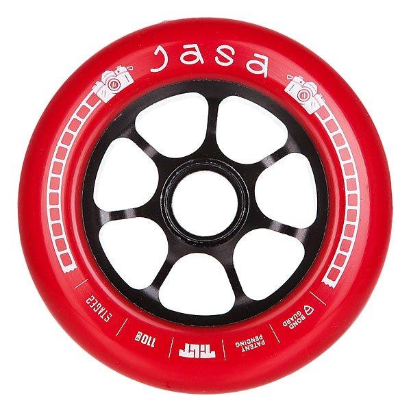 Колесо для самоката Tilt Jordan Jasa Signature WheelКолесо Tilt промодель Jordan Jasa диаметром 110 мм.Колеса протестированы лучшими мировыми райдерами. Характеристики:Размер: 110 мм. Ширина колеса: 24 мм. 7 облегчённых спиц.<br><br>Цвет: красный<br>Тип: Колесо для самоката<br>Возраст: Взрослый<br>Пол: Мужской
