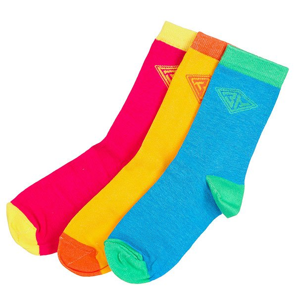 Носки средние женские Запорожец Радуга Синий-розовый-желтый<br><br>Цвет: голубой,оранжевый,Темно-розовый<br>Тип: Носки средние<br>Возраст: Взрослый<br>Пол: Женский