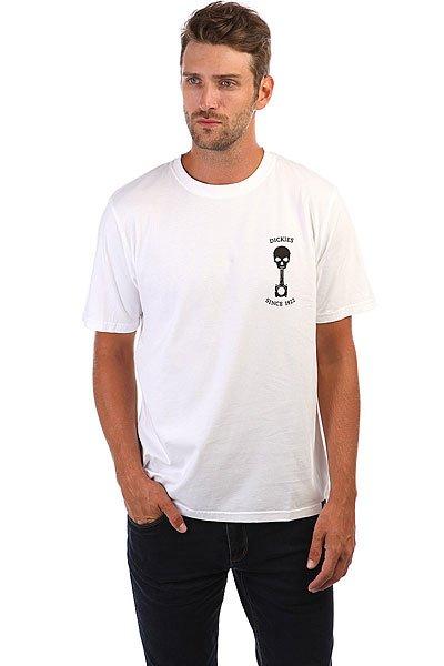 Футболка Dickies Turrell White<br><br>Цвет: белый,черный<br>Тип: Футболка<br>Возраст: Взрослый<br>Пол: Мужской