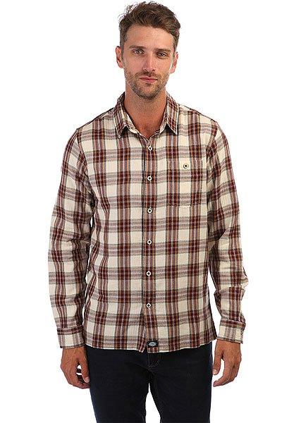 Рубашка Dickies Harrell Maroon<br><br>Цвет: Светло-коричневый,бежевый<br>Тип: Рубашка<br>Возраст: Взрослый<br>Пол: Мужской