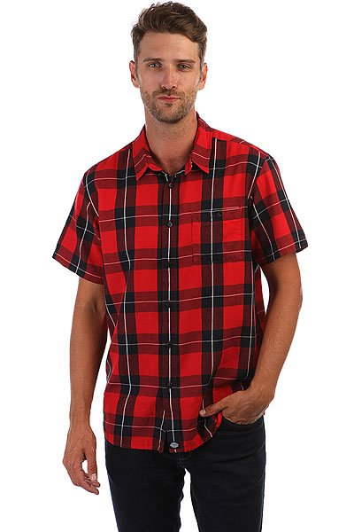 Рубашка Dickies Lockesburg Red dickies рубашка утепленная dickies ryker shirt jacket fiery red