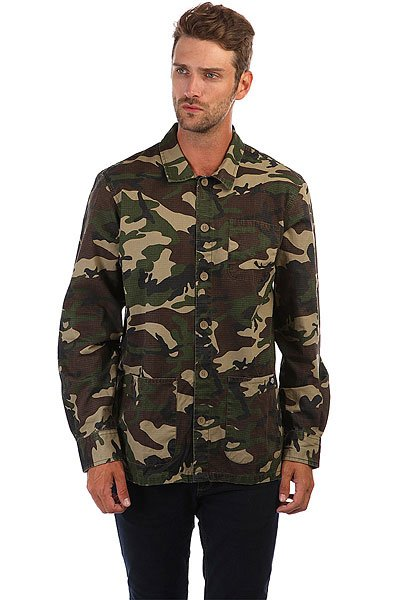 Рубашка Dickies Kempton Camouflage<br><br>Цвет: зеленый<br>Тип: Рубашка<br>Возраст: Взрослый<br>Пол: Мужской