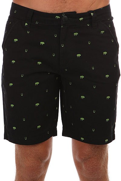 Шорты Dickies Buckner Black<br><br>Цвет: черный,Светло-зеленый<br>Тип: Шорты<br>Возраст: Взрослый<br>Пол: Мужской