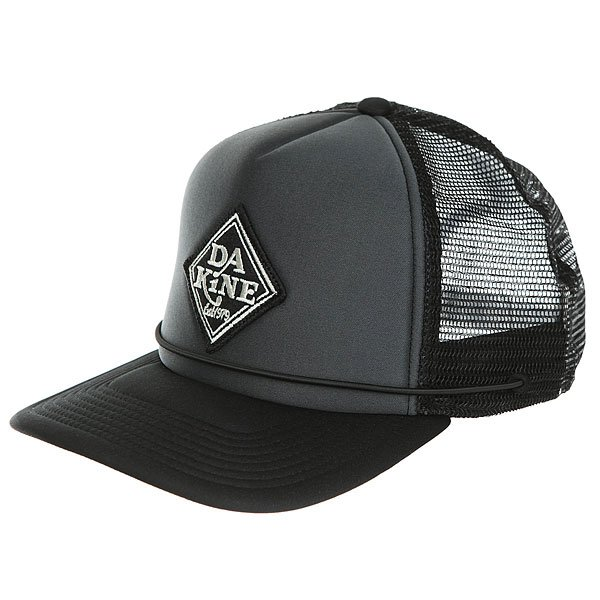 Бейсболка классическая Dakine Lock Down Trucker Black / Charcoal<br><br>Цвет: черный<br>Тип: Бейсболка классическая<br>Возраст: Взрослый