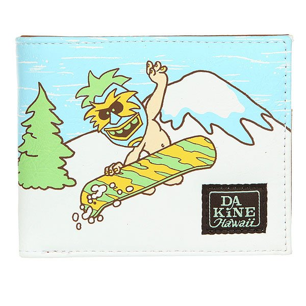 Кошелек Dakine Rufus Wallet Pray4snow<br><br>Цвет: белый,Светло-голубой,Светло-зеленый<br>Тип: Кошелек<br>Возраст: Взрослый