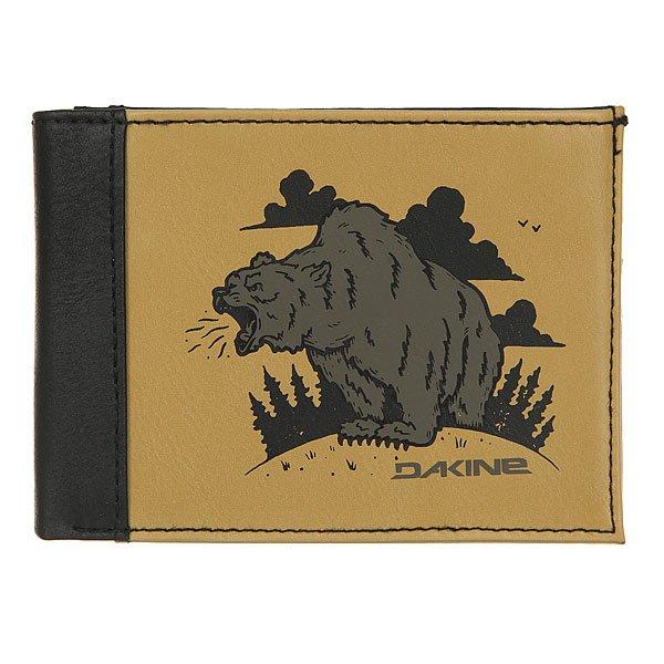 Кошелек Dakine Conrad Wallet Bear<br><br>Цвет: черный,Светло-коричневый<br>Тип: Кошелек<br>Возраст: Взрослый