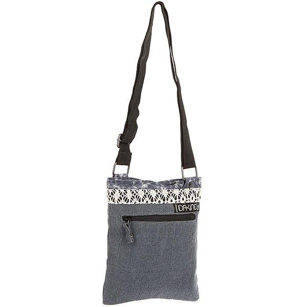Сумка женская Dakine Jive IndigoDakine Jive - небольшая, но очень удобная женская сумка. Абсолютный маст-хэв в арсенале каждой девушки.Технические характеристики: Основное отделение на молнии.Регулируемый наплечный ремень.Наружный карман на молнии.Внутренний карман на молнии.Подкладка из полиэстера.<br><br>Цвет: Темно-синий<br>Тип: Сумка<br>Возраст: Взрослый<br>Пол: Женский