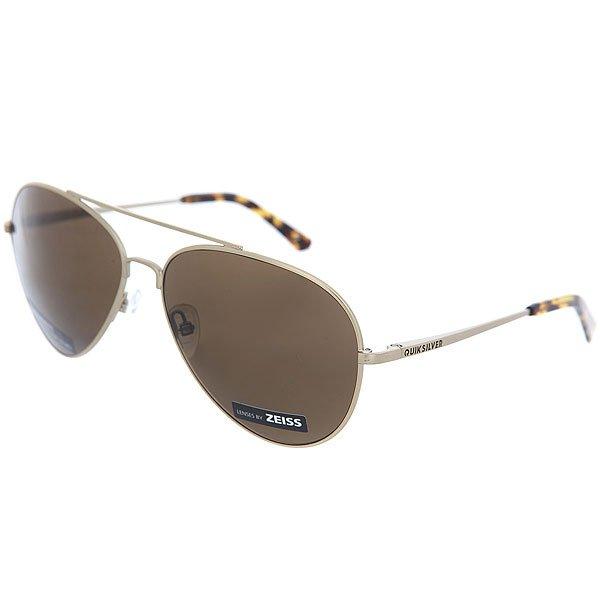 Очки Quiksilver Barrett Premium Matte Silver/Glass<br><br>Цвет: Светло-желтый,Светло-коричневый<br>Тип: Очки<br>Возраст: Взрослый<br>Пол: Мужской