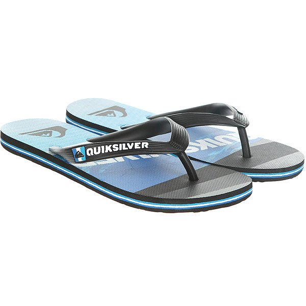 Вьетнамки Quiksilver Molokaislashlog Real Black/Blue вьетнамки quiksilver java wordmark black blue