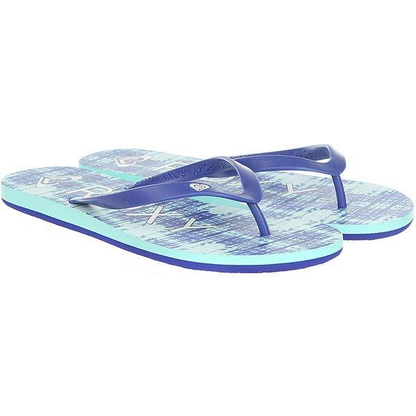 Купить со скидкой Вьетнамки женские Roxy Tahiti V Navy/Bright Blue