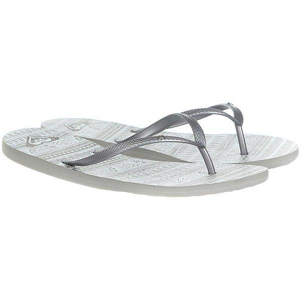 Купить со скидкой Вьетнамки женские Roxy Bermuda Real Grey/White