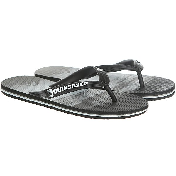 Вьетнамки Quiksilver Molokaiholddown Real Black/Grey<br><br>Цвет: черный,серый<br>Тип: Вьетнамки<br>Возраст: Взрослый<br>Пол: Мужской