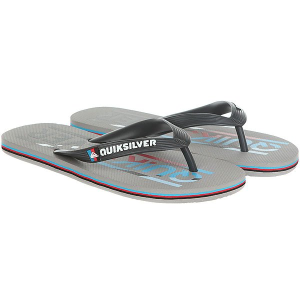Вьетнамки Quiksilver Molokai Wordmar Real Grey/Blue