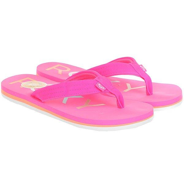 Вьетнамки детские Roxy Rg Vista Real Hot Pink<br><br>Цвет: Темно-розовый,мультиколор<br>Тип: Вьетнамки<br>Возраст: Детский