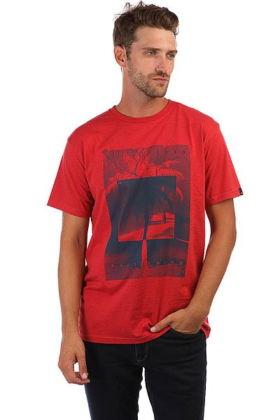 Футболка Quiksilver Inverted Cardinal Red<br><br>Цвет: красный<br>Тип: Футболка<br>Возраст: Взрослый<br>Пол: Мужской