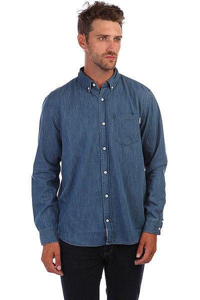 цена  Рубашка Carhartt WIP Civil Shirt Blue  онлайн в 2017 году