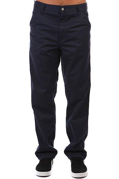 Штаны прямые Carhartt WIP Simple Pant Navy<br><br>Цвет: Темно-синий<br>Тип: Штаны прямые<br>Возраст: Взрослый<br>Пол: Мужской