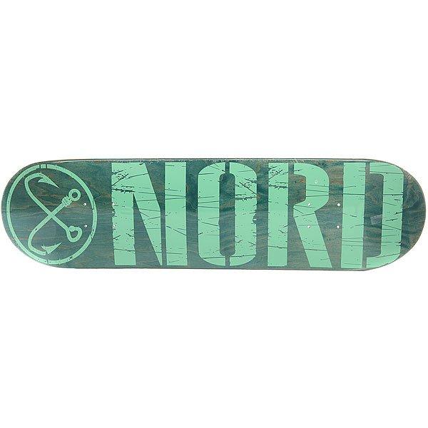 Дека для скейтборда для скейтборда Nord Лого Green/Mint 32 x 8.25 (21 см) дека для скейтборда для скейтборда footwork progress shabala forever 32 5 x 8 25 21 см